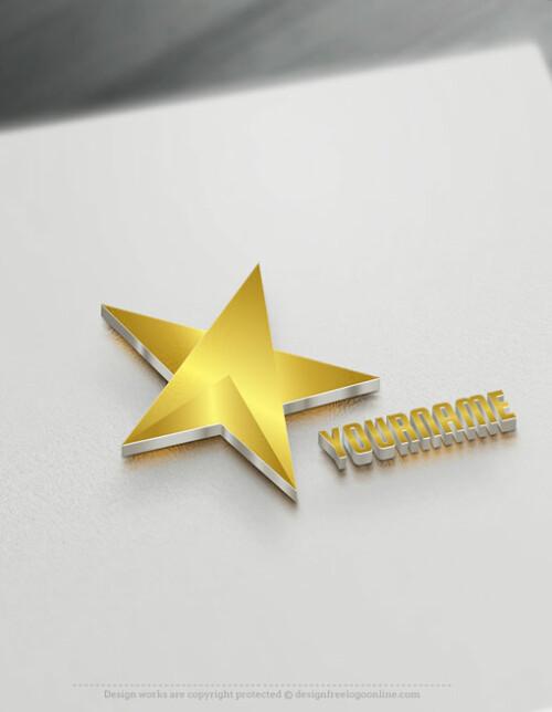 Create 3D Logo Online - Gold Star Logo Design