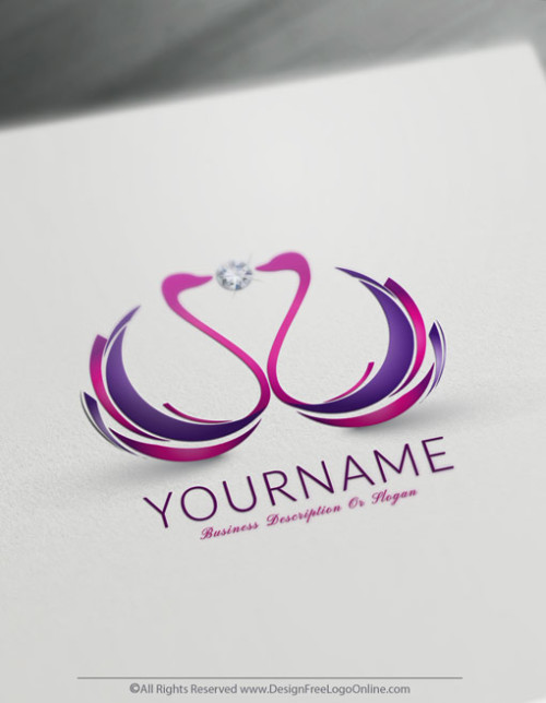 Create Beautiful Swans Logo Design Ideas