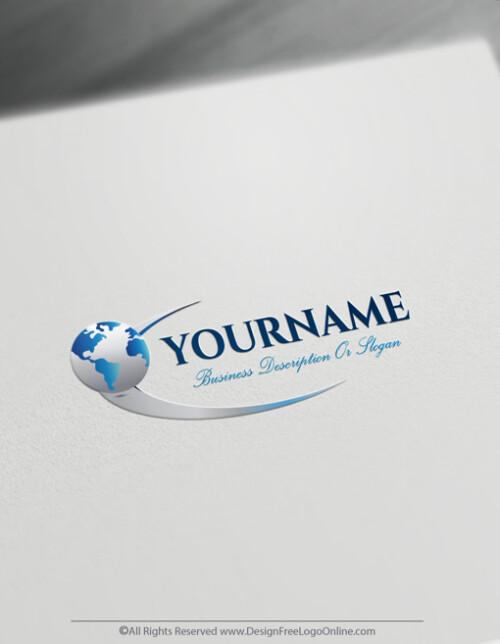 Create a 3D Globe Path Logo Free