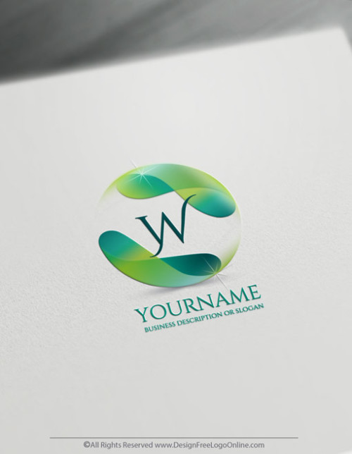 Create a 3D Logo Free - Flowing Alphabet Letter Logo Template