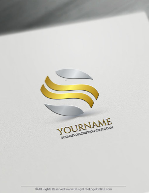 Create your own Gold waves logo design ideas with the logo maker.