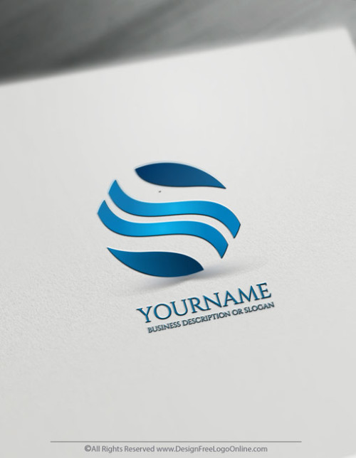 Create your own Blue waves logo design ideas with the logo maker.