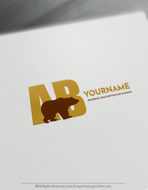 Design a Bear logo with online Logo Maker