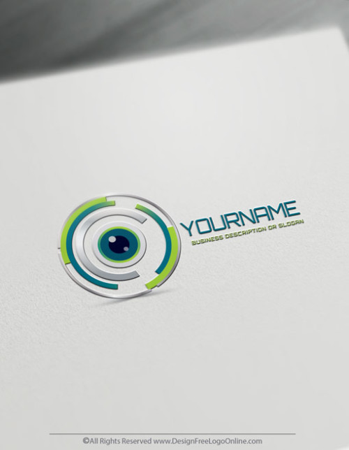 Eye Focus Logo Design Template - Free Technology Logo Maker