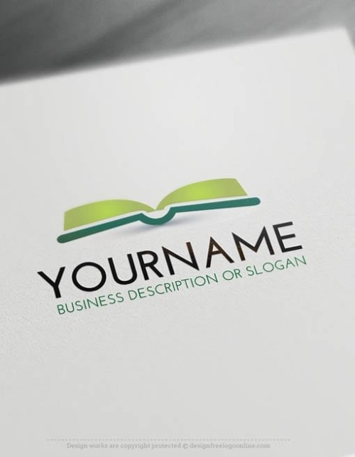 Make a Book logo online with our free logo generator