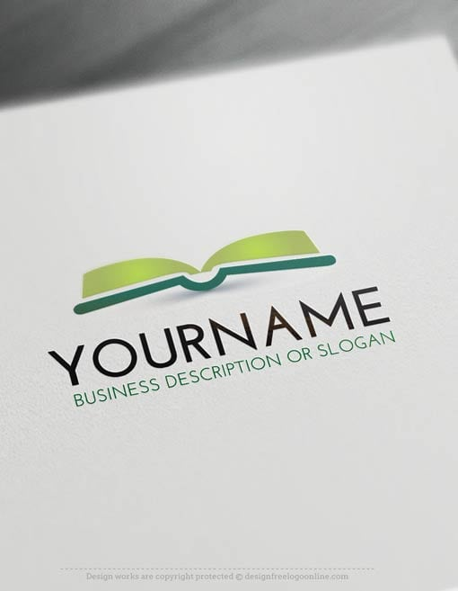 Free Logo Make book LogoTemplate