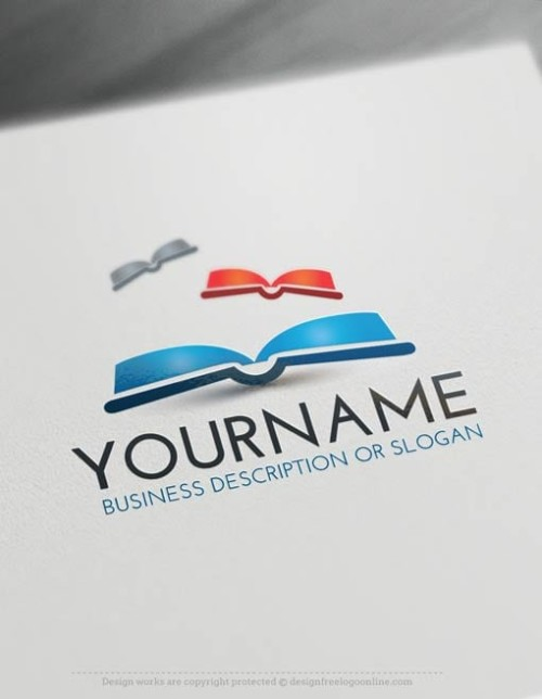 Free-Logo-Make-books-LogoTemplate