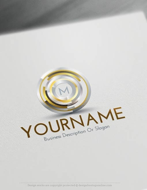 letter logo maker design free logo abstract lines logo template 22903