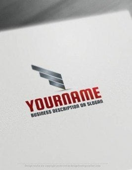 Create a Logo Free - Online simple lines Logo Template