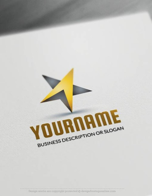 Create Logos Free - Online black star Logo Templates - free logo makers