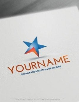 Create a Logo Free - Online Blue star Logo Templates