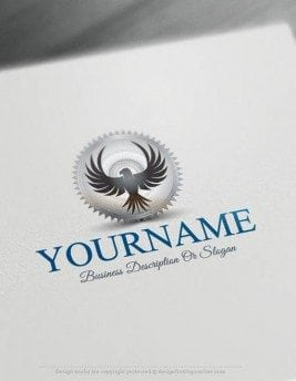 Free-Logo-Maker-eagle-stamp-LogoTemplate