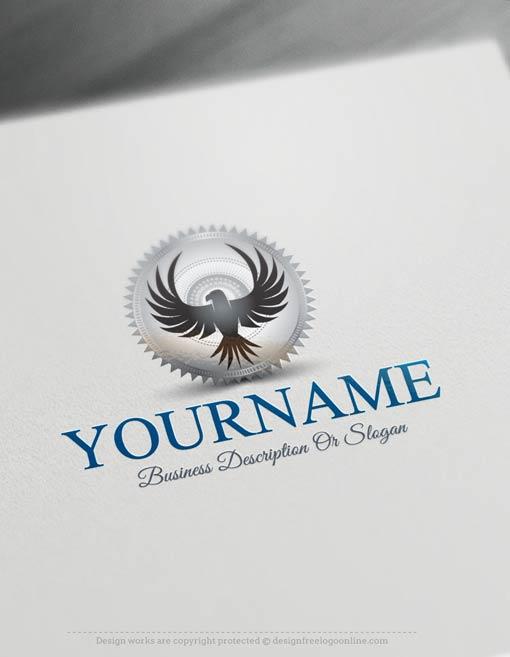 Free-Logo-Maker-eagle-stamp-LogoTemplate