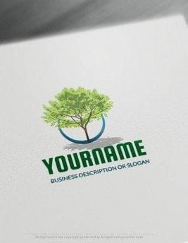 Free-Logo-Maker-green-tree-LogoTemplate