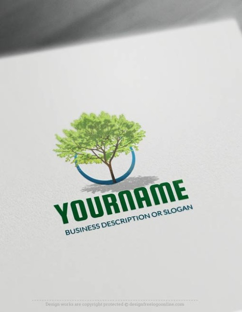 Free-Logo-Maker-green-tree-LogoTemplate