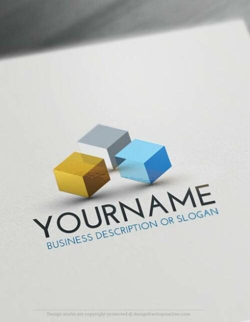 Free-Logo-Maker-3D-Cubes-LogoTemplate
