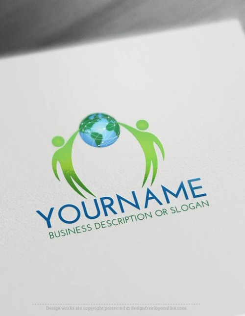 Free-Logo-Maker-people-globe-LogoTemplate