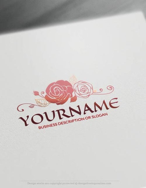 Free-Logo-Maker-rose-LogoTemplate