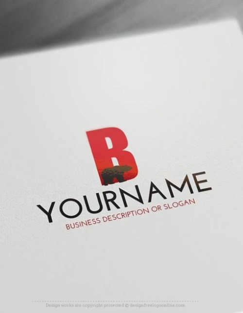 Free-LogoMaker-Bear-LogoTemplate