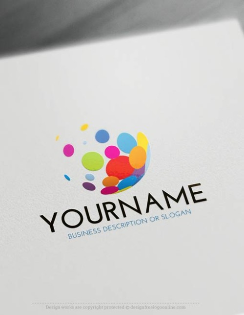 Free Logo Maker Bubbles Logo Template