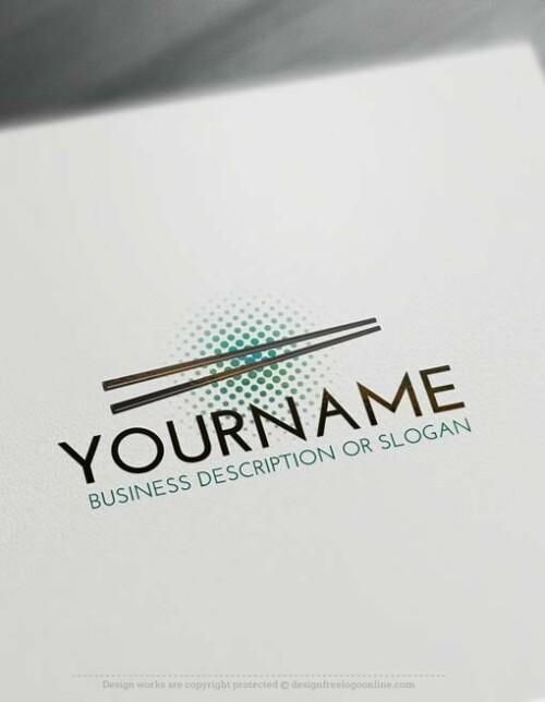 Free-LogoMaker-Chopsticks-LogoTemplates