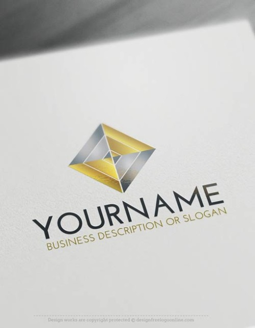 Free-LogoMaker-Rhombus-LogoTemplate