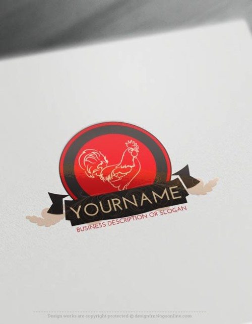 Free-LogoMaker-Rooster-LogoTemplate