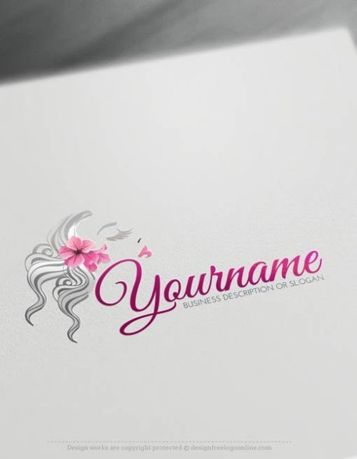 Beauty Logo Maker - woman's face Logo Template