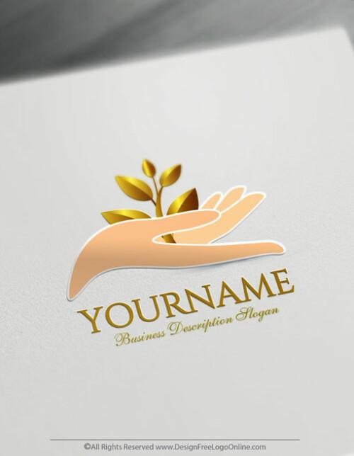 Growing Gold Leaf Logo Template