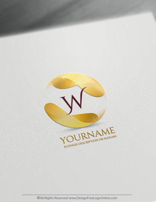 Create a 3D Logo Free - Flowing GOLD Alphabet Letter Logo Template