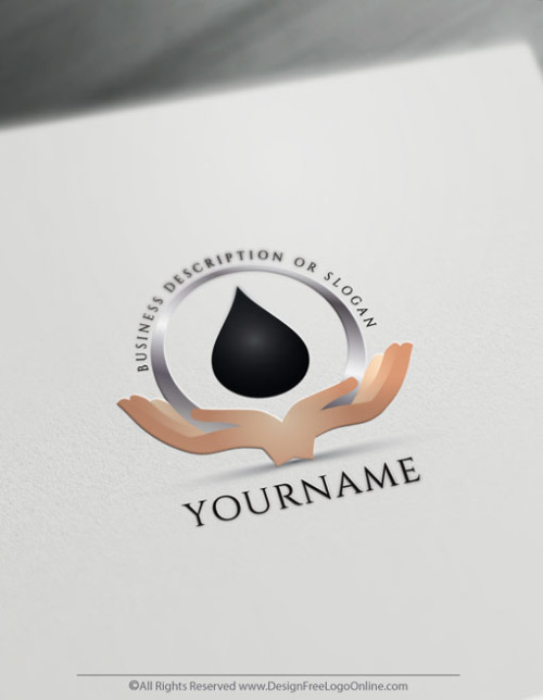 Hands Holding Black Oil Drop Logo Design - Create a Logo Free