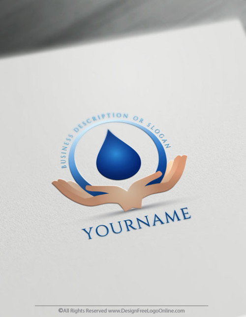 Hands Holding Water Drop Logo Design - Create a Logo Free