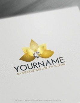 Logo-Maker-diamond-flower-LogoTemplate