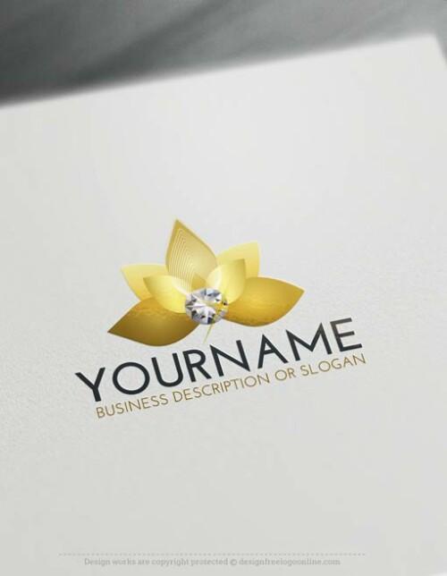 Logo-Maker-diamond-flower-LogoTemplate
