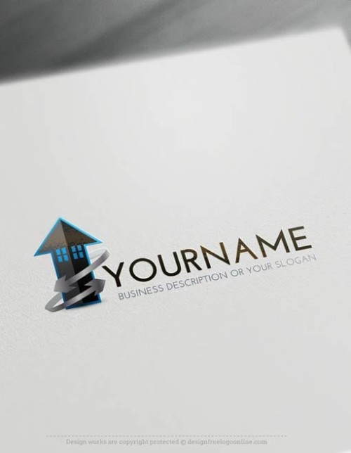 -LogoMaker-power-arrow-house-LogoTemplates
