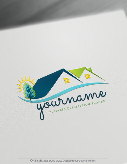 Realtor logo maker house image