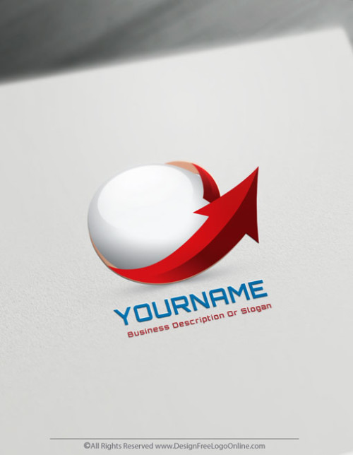 Create a Logo For Free – 3D Arrow Logo Design Template
