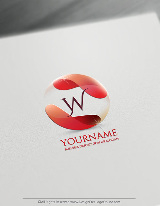 Flowing Red Alphabet Letter Logo Template