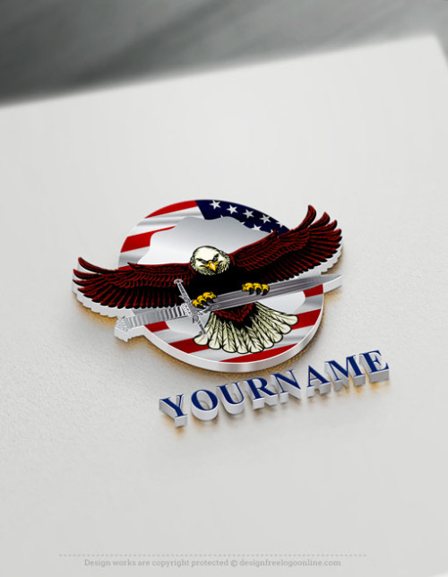 USA American Eagle Logo Maker