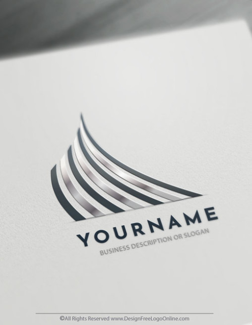 Create your own silver Logo online Free with silver Lines Logo Template