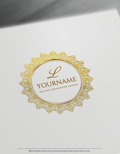 Create a Gold Monogram Logo Free