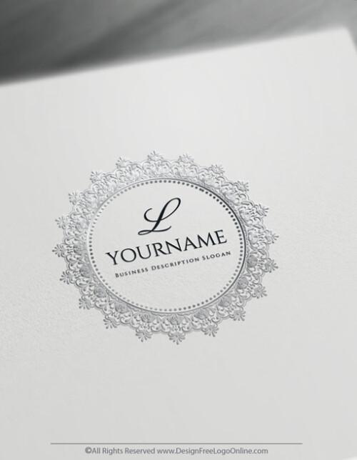 Create a Silver Monogram Lace Logo Free