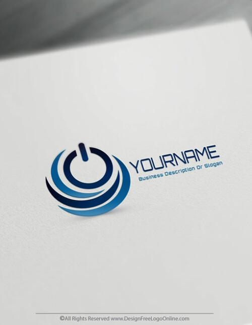 Blue Power Symbol