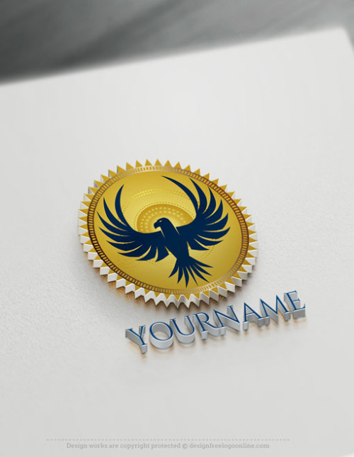 Create a Logo For Free - Online Stamp Eagle Logo Design