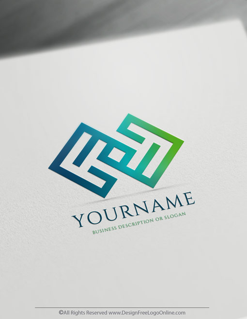 Create a Business Logo Free - Infinity Geometric Logo Templates