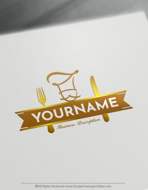 chef logo maker luxury food logo