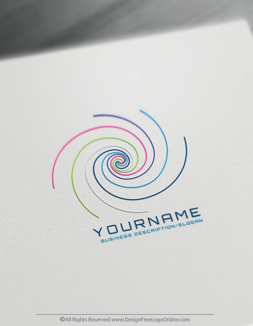 Free colorful Golden Ratio Logo Maker - Spiral Logo Design Template