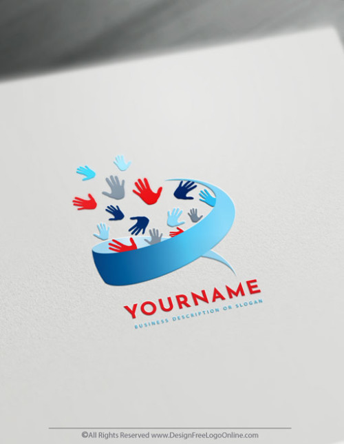 free modern Palm Palm hands logo maker