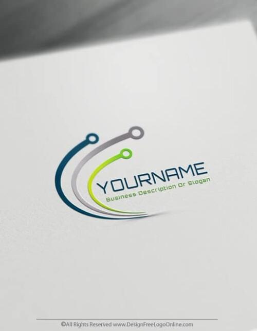 Create Technology Logos Free – Digital Network Logo Template