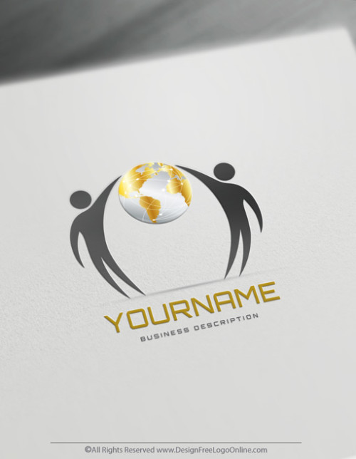 Elegant People Globe Logo Template